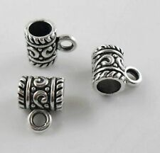 100pcs Tibetan Silver Nice Big Hole Spacer Beads Bails Connectors 11.5x9mm 8011
