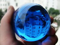 40-100mm Natural Blue Obsidian Sphere Large Crystal Ball Healing Stone