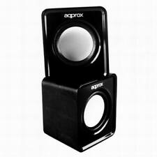 USB Speakers for PC LAPTOP TABLET Approx 2.0 Mini Stereo Speakers, 5W BLACK