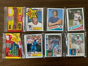 1984 & 1985 UNOPENED UNSEARCHED TOPPS BASEBALL RACK PACKS