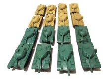 16 Pc Green and Desert Army Battle Tanks Play Set