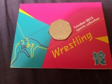 London 2012 Olympic Games 50p Wrestling Sealed Pack