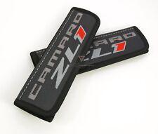 "Car Seat Belt Leather Shoulder Pads Covers for Chevrolet Camaro ZL1 Black 9"""
