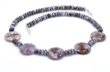 Natural Rare Sugilite Necklace 925 Sterling Silver Beads Ct 184 Gemstone Jewelry