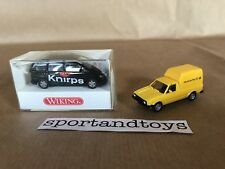 WIKING HO 1:87 LOTTO DUE AUTO: VW CADDY POST + VW SHARAN KNIRPS PERFETTI