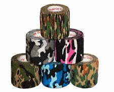 "Vetrap Tape Vet Wrap Camo Self Adhesive Stick Grip Rolls Stretch Power 2"" inch"