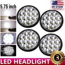 "4pcs 5.75'' 5-3/4"" inch Round LED Headlights Crystal Clear Hi/Lo Sealed Beam"