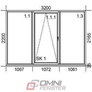 Tür Terassentür PVC Schiebetür Fenster 3200 x 2200 mm Schaufenster Balkontür