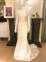 brand new size 8-10 made in England Sheryl Couture sheath shape wedding dress
