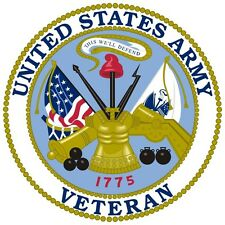 United States Army Veteran Window Decal Sticker 3.5""