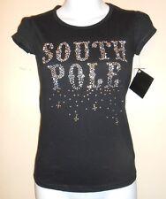 South Pole Girls Short Sleeve Embellished T-Shirt Black L/12-14 NWT