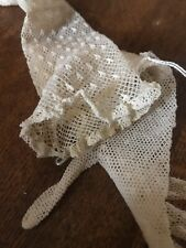 Victorian White Fishnet Lace Gloves Edwardian