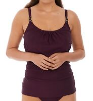 FANTASIE Vino Long Island Scoop Neck Tankini Swim Top, US 38DDD, UK 38E, NWOT