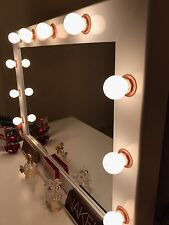 Hollywood Vanity Makeup Mirror - White With ROSE GOLD