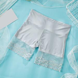 New Seamless Silk Panties High Waist Women Underwear Anti Emptied Shorts Pants