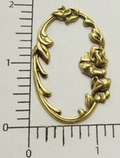 21023          Brass Oxidized Victorian Floral Frame Jewelry Finding