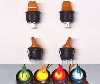 YELLOW ORANGE 4 pcs lot ILLUMINATED Toggle Rocker switch toy model SPST 12v 20A