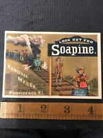 Soapine Kendall Mfg Co vintage advertising Trade Providence Train And Couple