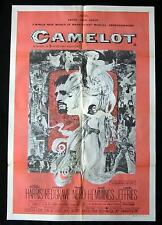 CAMELOT 73r Richard Harris Vanessa Redgrave VINTAGE 1 sheet Movie poster