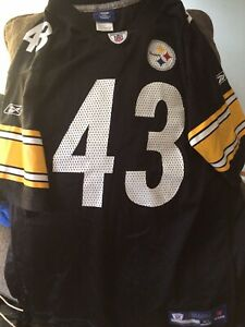 TROY POLAMALU #43 PITTSBURGH STEELERS🏈 NFL YOUTH XL JERSEY Reebok (New) No Tags