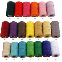 100m Long/100 Yard Pure Cotton Twisted Cord Ropes Crafts Macrame Artisan SALE