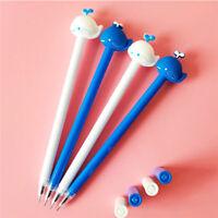 6pcs Cute Cartoon Kawaii Whale Fish Gel Ink Roller Ball Point Pen School Kids