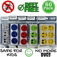 60x Mosquito Repellent Patch Smiling Face Protect Kids Baby Mosquito Sticker Set