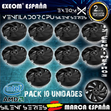 Ventilador para PC CPU 12cm compatible Socket Intel AMD Silent series Exeom