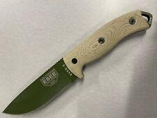 Esee-5 1095 Od Green Blade, Green Canvas Micarta 3D Handle, Black Kydex Sheath