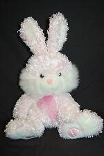 "Easter Bunny Rabbit Pink Satin Egg Big Feet Perky Ears Bow Plush DanDee Toy 20"""