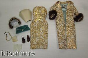 VINTAGE BARBIE DOLL FASHION CLOTHES #961 EVENING SPLENDOR SET COMPLETE HANKY HAT