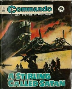A STIRLING CALLED SATAN,COMMANDO WAR STORIES IN PICTURES,NO.869,WAR COMIC,1974