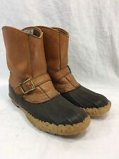 VTG LL BEAN CLASSIC DUCK HUNTING LEATHER RUBBER BUCKLES MEN 7 WOMEN 9 Boot MAINE