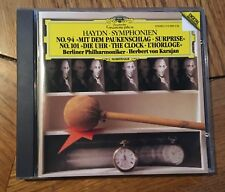 "Haydn - Symphonies No. 94 ""Surprise"" & 101 ""The Clock"" CD DG, Karajan"