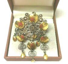 Solje Silver Brooch Pin. Vintage Jewellery Fabulous Norwegian