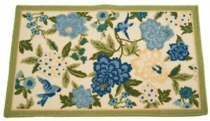 """ACCENT PRINTED RUG (nonskid)(18""""x30"""") FLOWERS, GREEN, CANDID MOMENT, Waverly"""