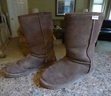 """BEARPAW Mid-Calf 10"""" Womens Suede Brown Boots Size 10"""