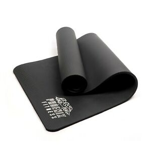 NBR 15mm Thick Non Slip Exercise Yoga Pilates Fitness Mat for Home & Gym Workout