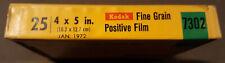 SEALED 25 Kodak Professional Fine Grain Positive Film 25 SHEETS 4X5 exp Jan/1972