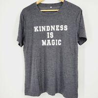 "Women's ""Kindness is Magic"" Crew Neck Graphic Tee NWOT Sz XL Short Sleeve Gray"