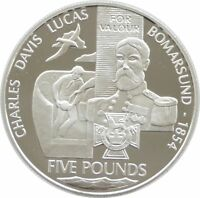 2006 Victoria Cross Charles Davis Lucas £5 Five Pound Silver Proof Coin
