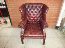 An Antique Red Leather Chesterfield Arm Chair ***DELIVERY AVAILABLE**