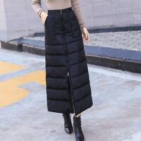 Women Thick Warmer Puffer Puffa Long A Line Skirts Padded Winter Outdoor Fashion