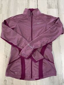 Women's Nike Running Dri Fit Jacket Size XS Nike Element Pink Zip Front