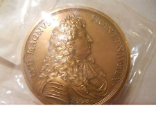 1677 LOUIS XIV HISTORICAL RARE LARGE MEDAL CAMBRAI CITY CAPTURED