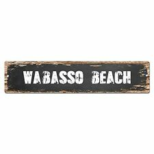 SP0381 WABASSO BEACH Street Sign Bar Store Cafe Home Kitchen Chic Decor Gift