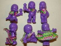 Lot de 6 figurines magic babies IDEAL el Greco violet PASTEL voir description.