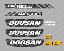 DOOSAN DX160LC DIGGER DECAL STICKER SET