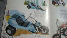 1971 Vintage COLUMBIA Mini Bike Motorcycle Brochure BUGS & BIKES MTD Snowmobile