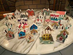 27 Vintage Christmas PUTZ Houses JAPAN